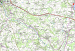 Map of the day's route.